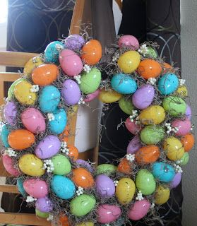 Easter Egg Wreath - Small Town Cookie
