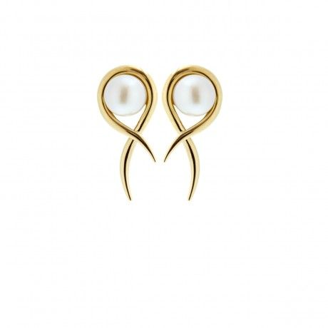 Sophie Breitmeyer - Gold Serpent Earrings