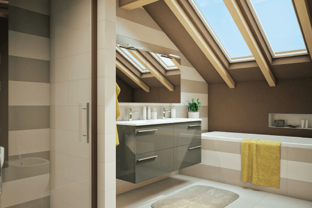 Bagno in mansarda progetta il tuo bagno pinterest mansarda e bagno