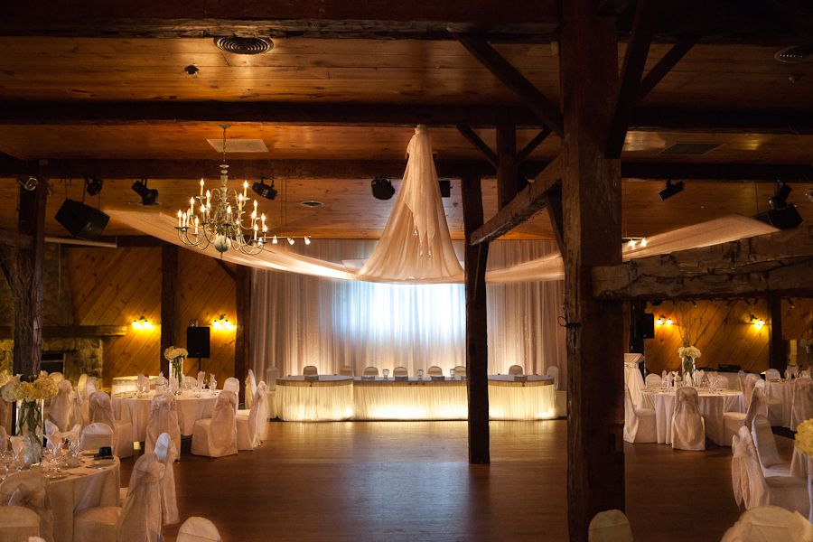 Dramatic Swag Ceiling Decor At Hernder Estate Wines By Fab Wedding Decorator Stuffbychris Ca Wedding Ceiling Niagara Wedding Wedding Reception Hall