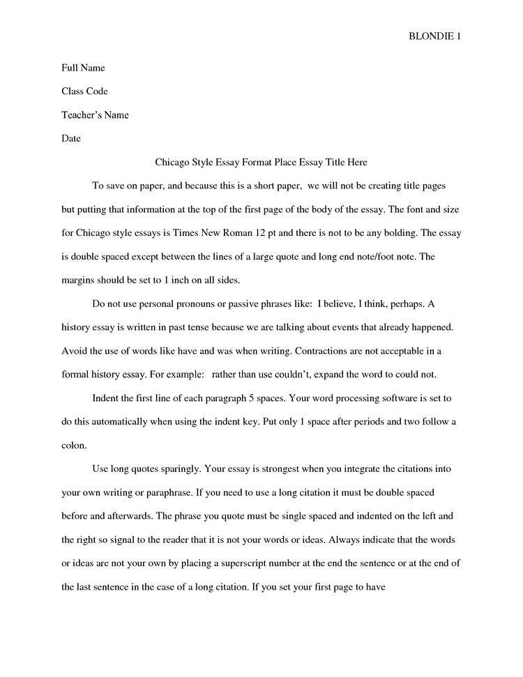 Essay Format Teaching Us History Teacher Name