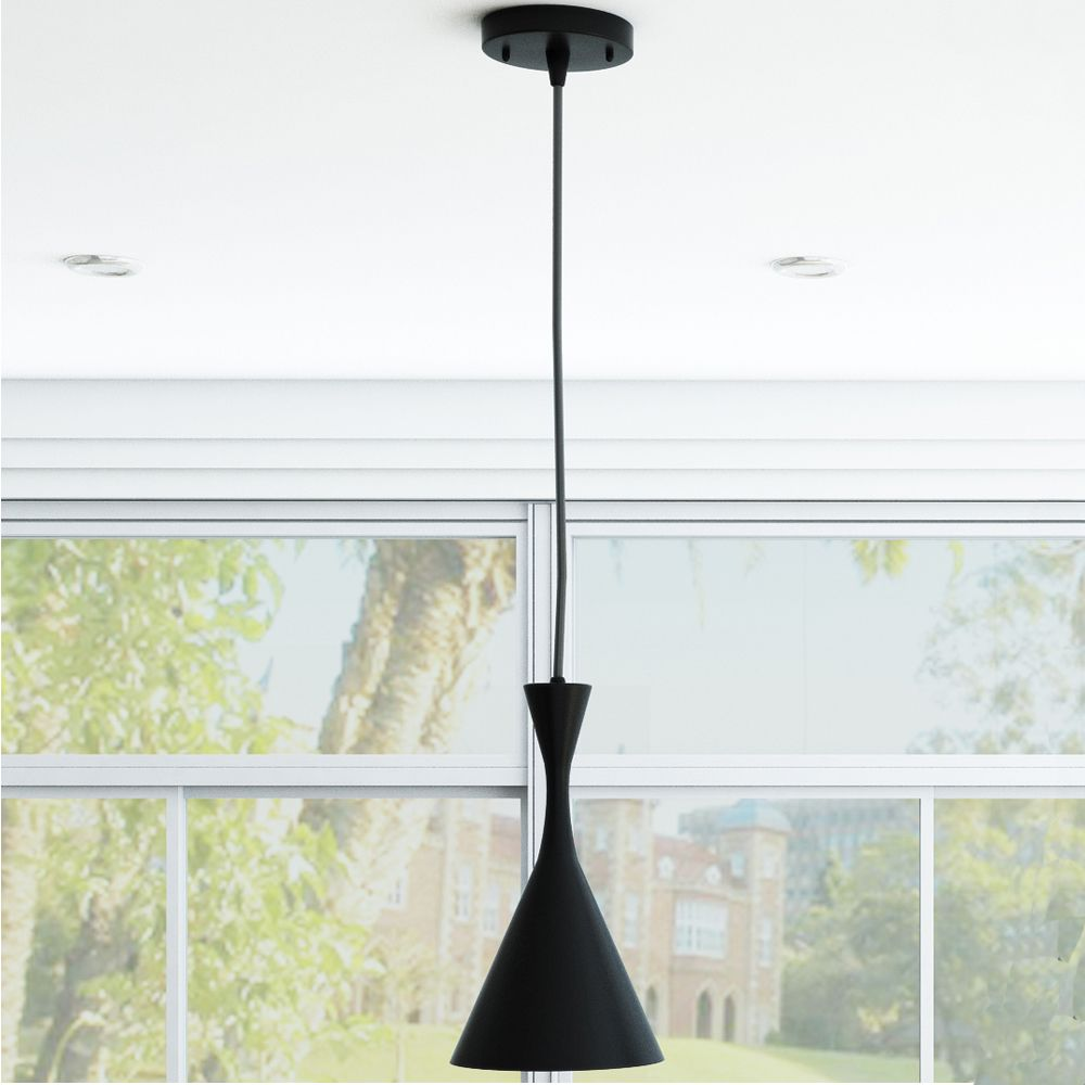 VONN Lighting Celaeno Adjustable LED Hanging Light with Hourglass Metal Shade