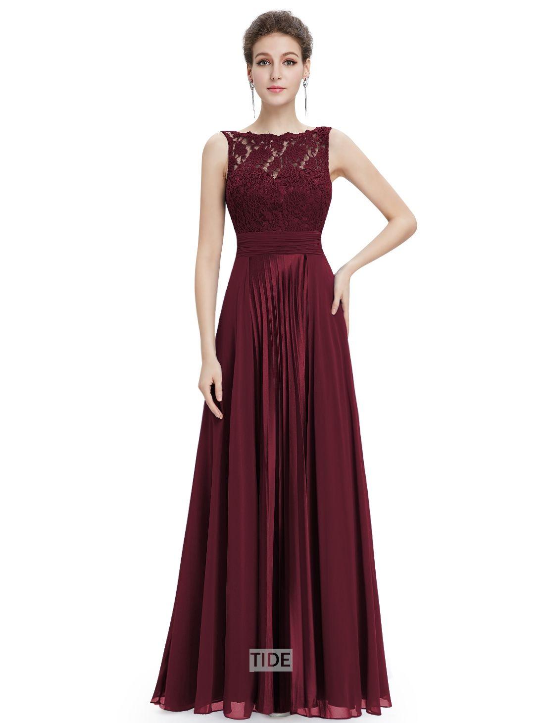 MACloth Women's O Neck Long Chiffon Bridesmaid Dress Formal Evening Party Gown (EU32, Azul Real)