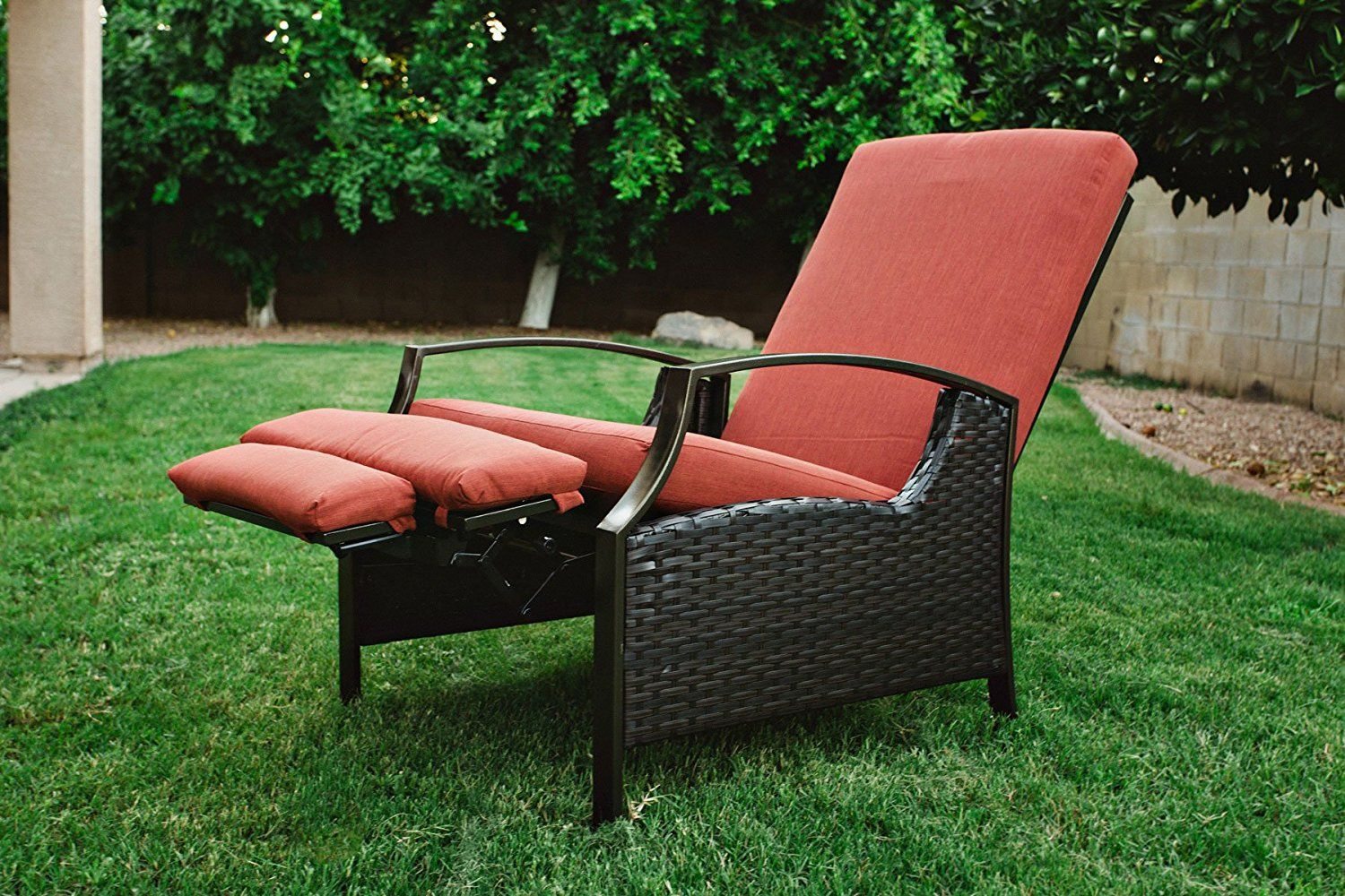 Amazonsmile outdoor wicker adjustable recliner with