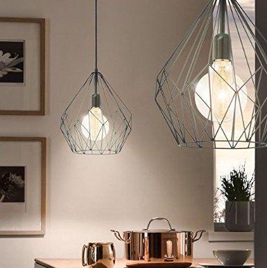 Vintage Pendel Leuchte Hange Lampe Schwarz Netz Beleuchtung Industrial Eglo 49257 Amazon De Beleuchtung Industriedesign Hauser Lampe Pendelleuchte Vintage