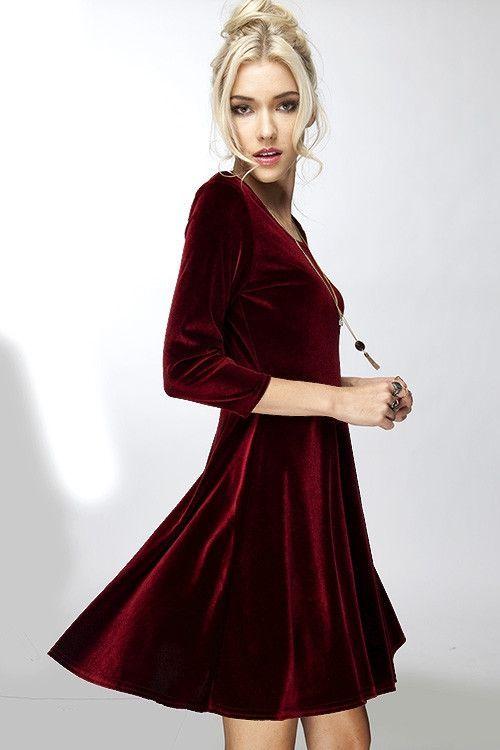 Winter Evening Dresses Velvet