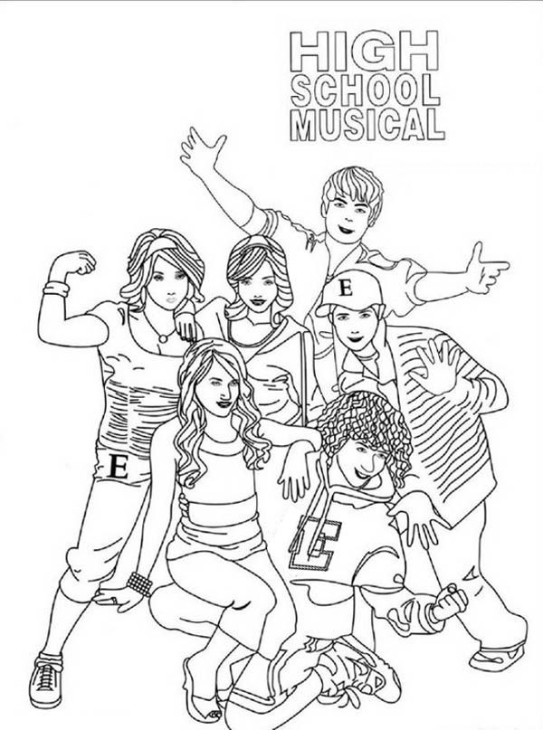high school musical coloring pages # 4