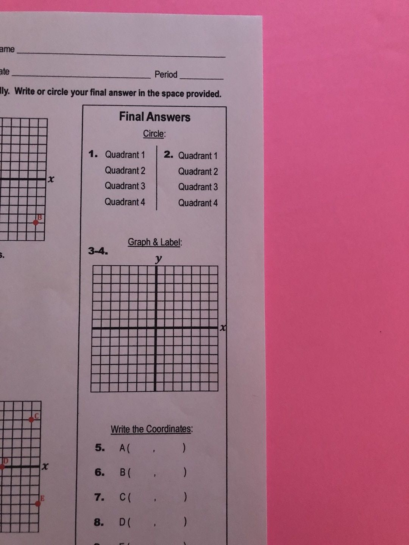 My Math Resources Coordinate Plane Quiz Coordinate Plane Middle School Math Teacher Middle School Math [ 1440 x 1080 Pixel ]