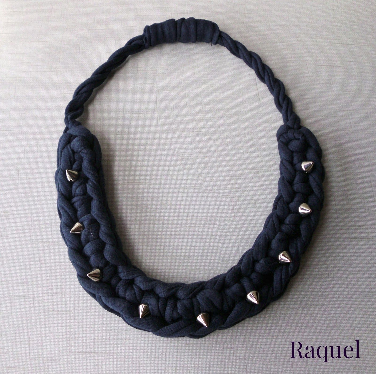 Tutorial Collar de Trapillo a Crochet modelo Tachuelas - Patrón ...