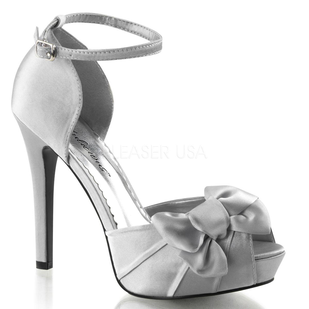Fabulicious LUMINA-34 4 3/4 Inch Heel, 1 Inch PF Peep Toe d'Orsay Pump w/Floral