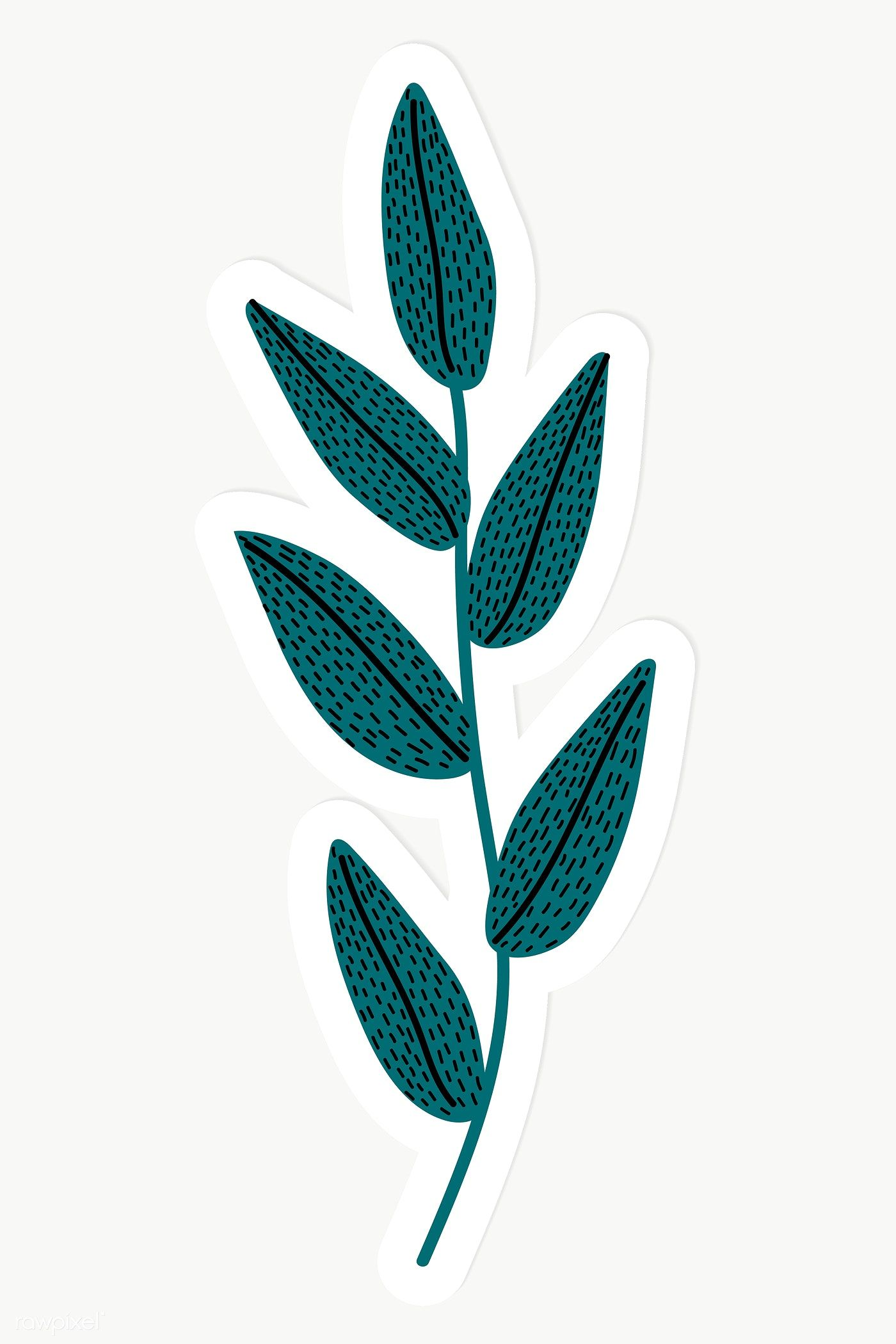 Download Premium Png Of Green Leaves Sticker Transparent Png