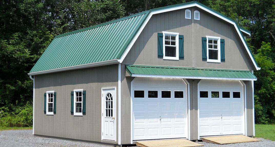 24 x 24 Raised Roof Garage with Garmbrel Roof Shed – Gambrel Garage Apartment Plans