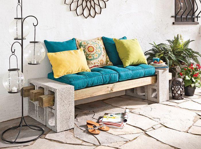 banc d 39 ext rieur facile r aliser 15 fa ons de d corer. Black Bedroom Furniture Sets. Home Design Ideas