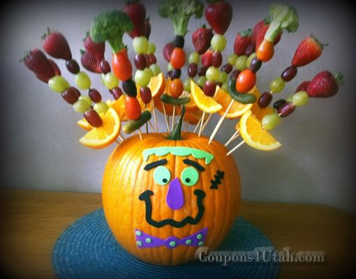 halloween party ideas pumpkin with fruit or vegetable skewers coupons 4 utah coupons - Ideas For Halloween Party