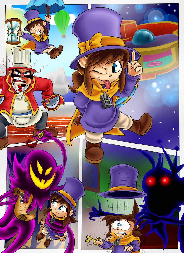 A Kid In A Hat By Gizmo01 On Deviantart A Hat In Time A Hat In Time Game Hat In Time