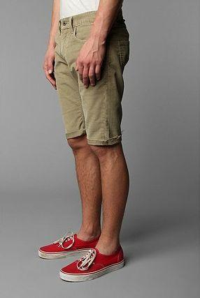 Levi s 511 Skinny Fit Corduroy Khaki Tan Cutoff Cutoffs Shorts Mens 32  Hipster 96b41d527fb