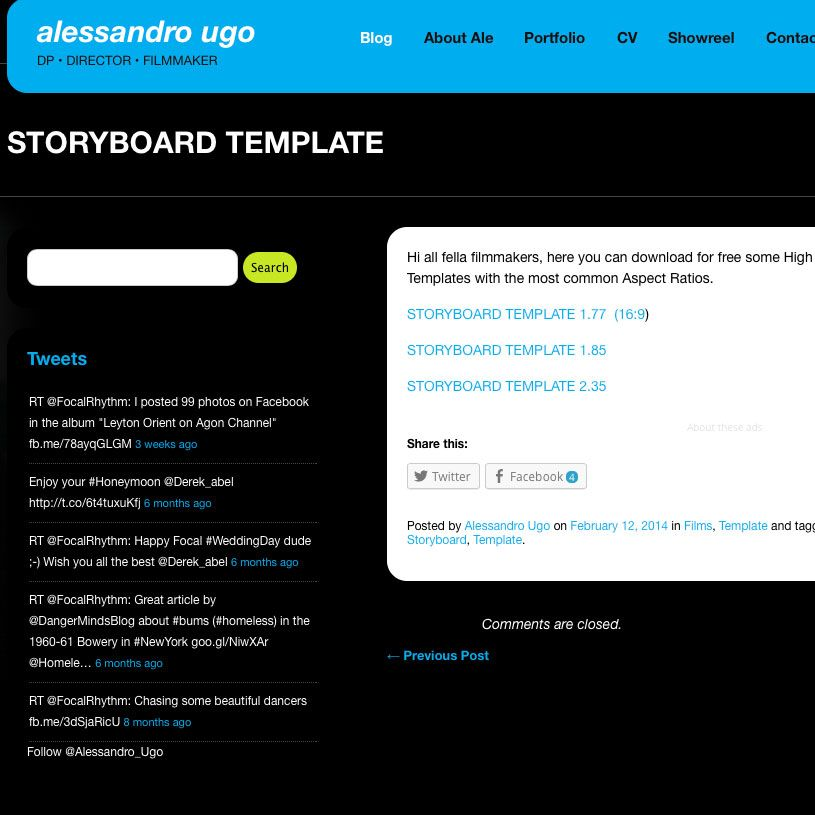 RESEARCH AND PLANNING This is the website that provided me with - professional storyboard template