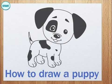 a6ee7013a44f How to draw a puppy - YouTube | Drawing and painting in 2019 | Dog ...