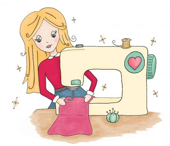 Sarah Hurley Sewing Clipart Sewing Art Sewing Machine