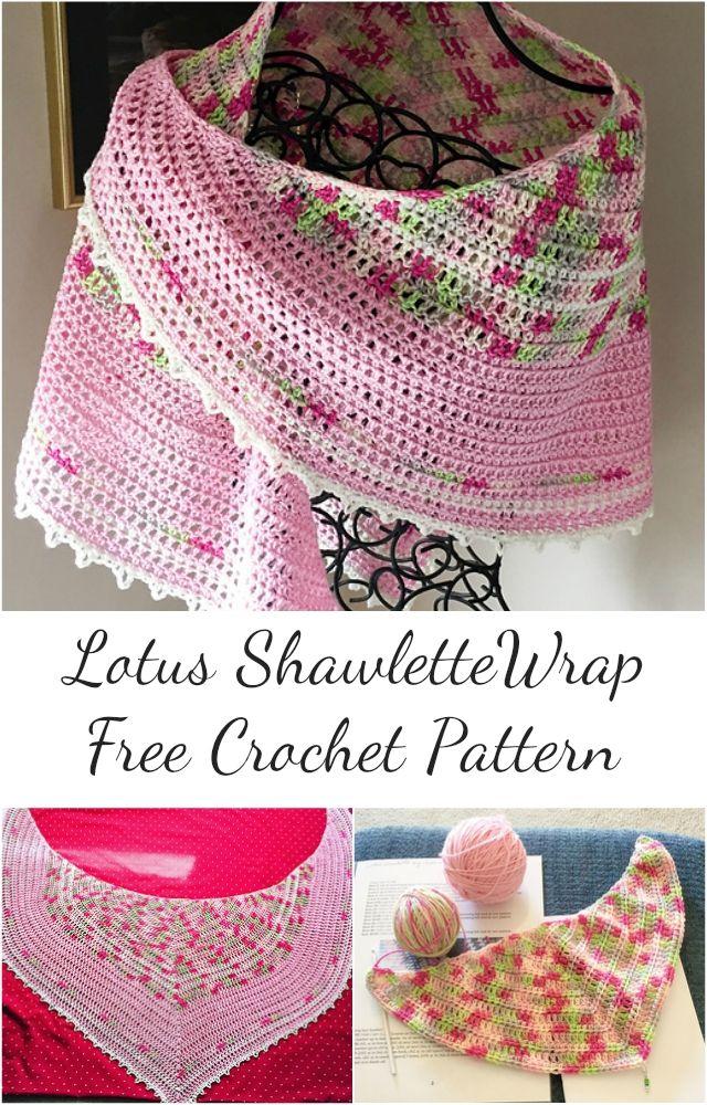 Adorable] Lotus Shawlette Crochet Wrap – Free Pattern! #crochet ...