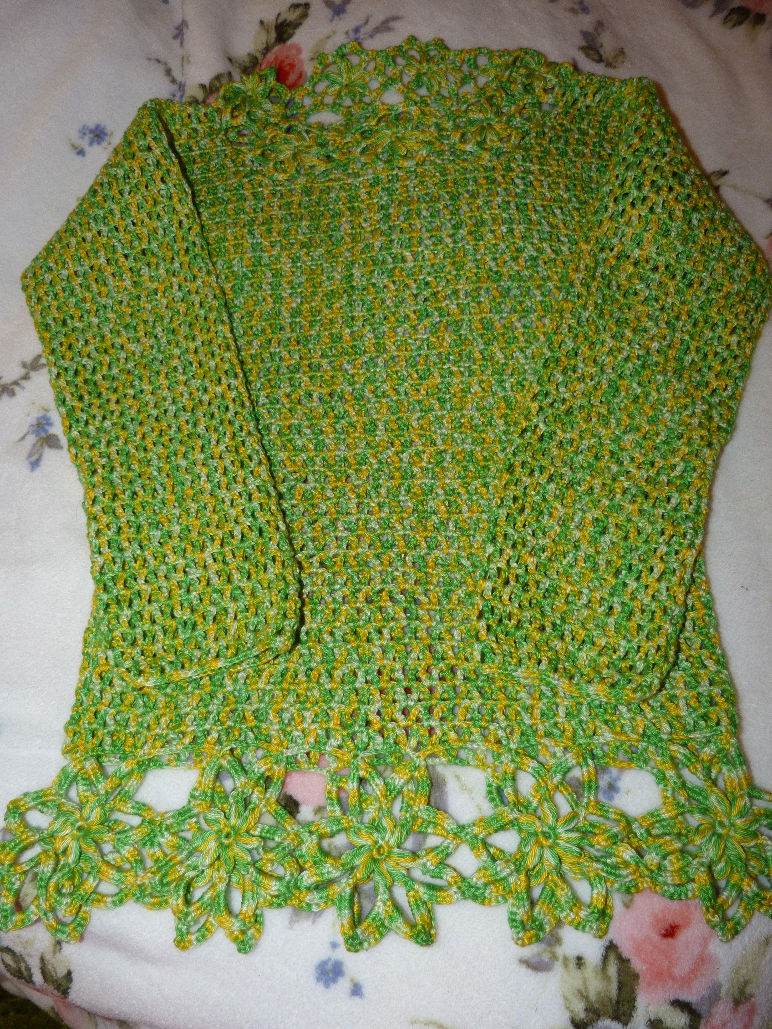 So green... camisola de croché para Verão de Mary Beth Studio