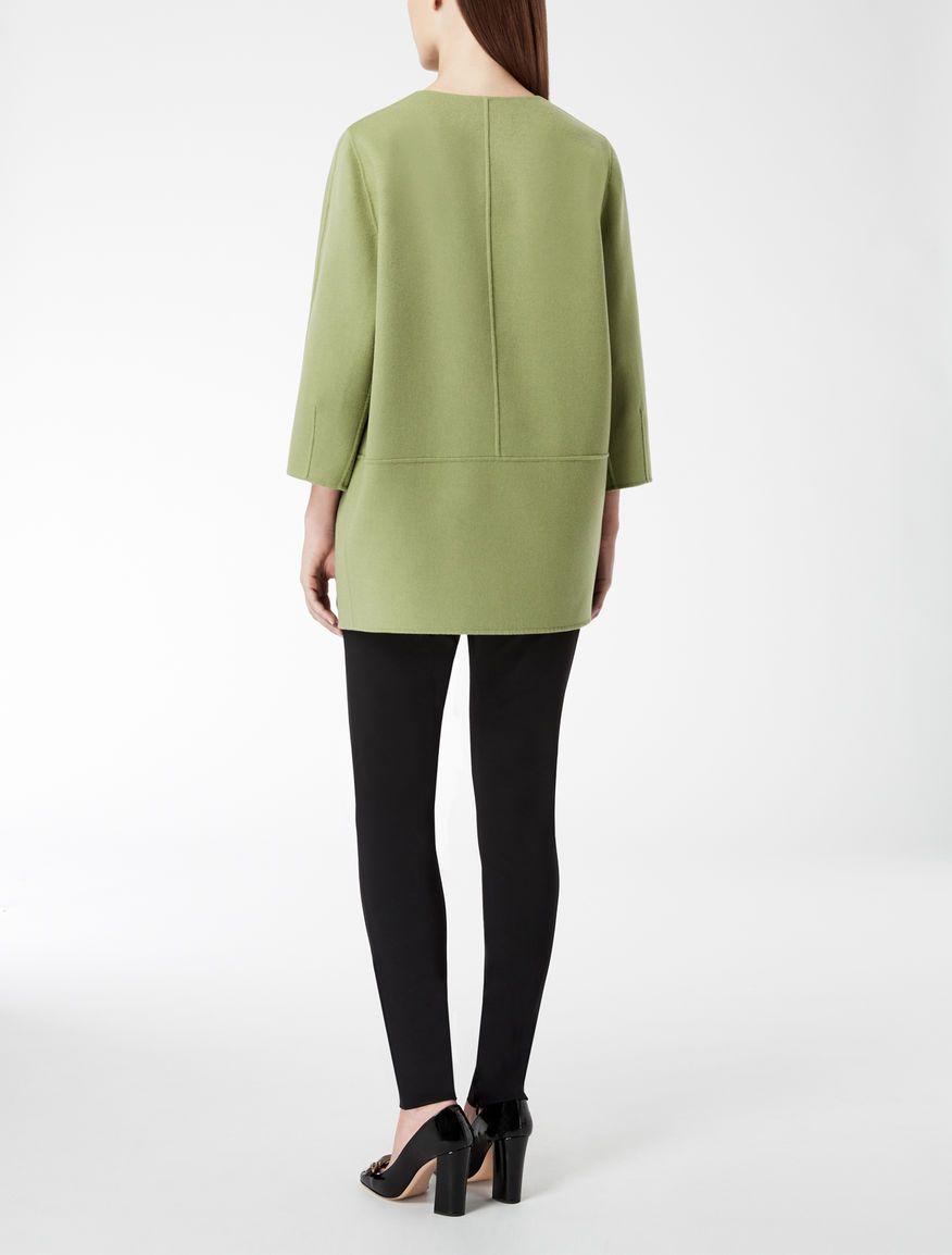 low priced f5e5b 8f924 Cappotto in lana e cachemire, verde -