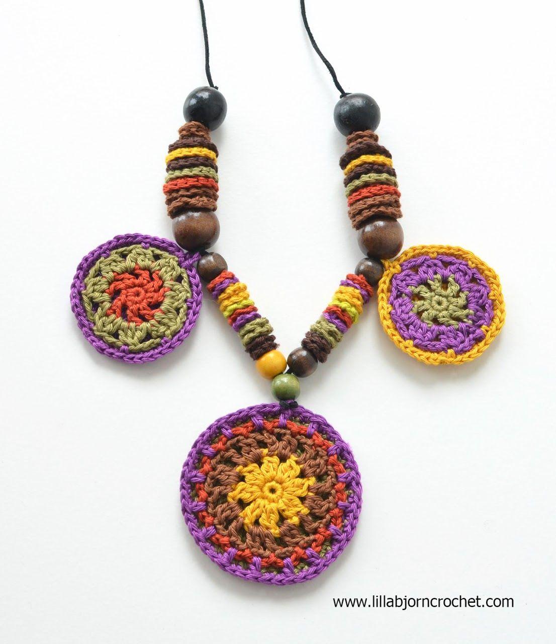 African Mandala Necklace - free pattern by Lilla Bjorn Crochet ...