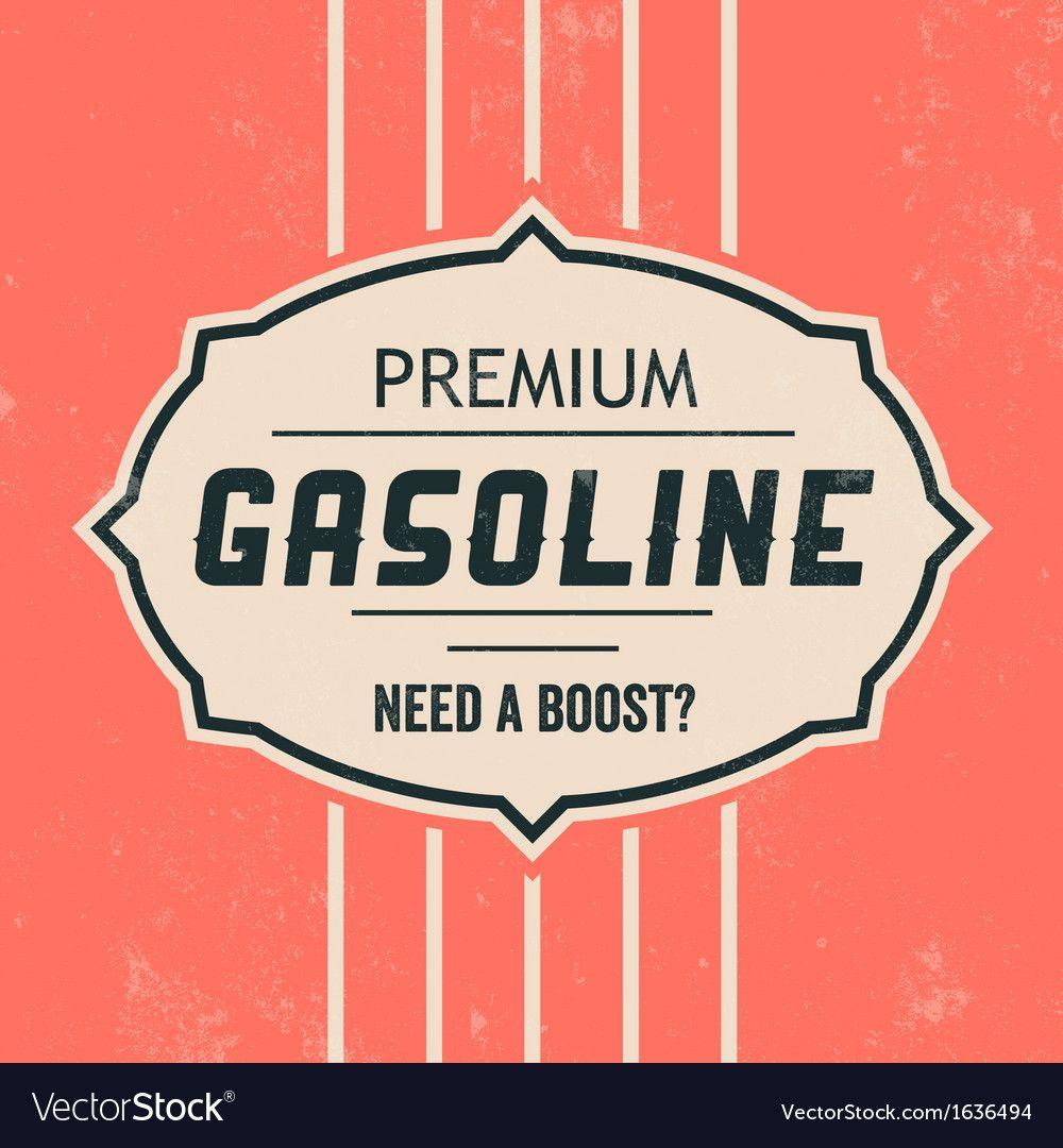 Vintage Gasoline Sign Retro Template Royalty Free Vector Sponsored Sign Retro Vintage Gasoline Vector Free Vintage Template Background Design Vector