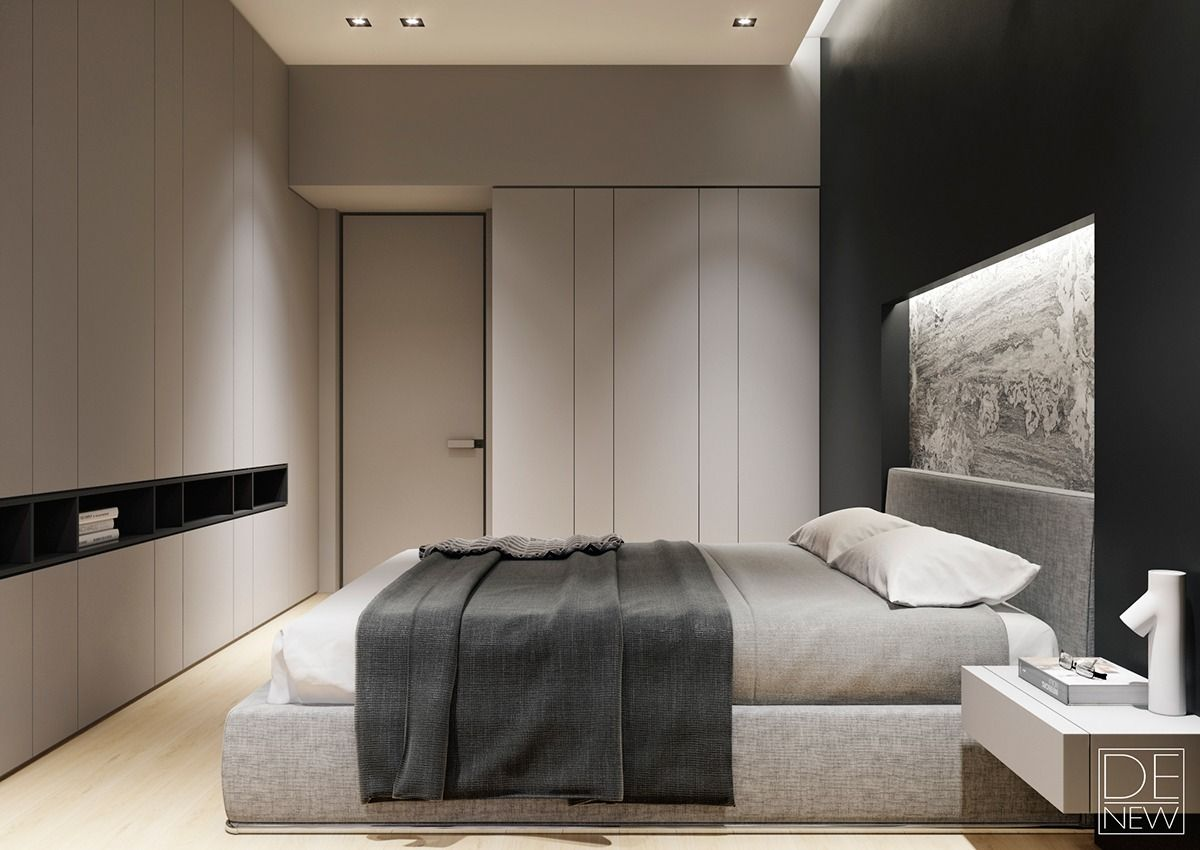 Bedrooms Designs Modern Apartment Design Ideas With The Soft And Sleek Texture