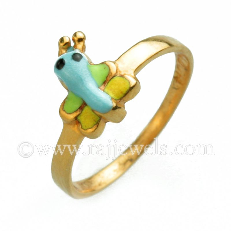 Butterfly Baby Ring Baby On Board Kids Gold Jewelry