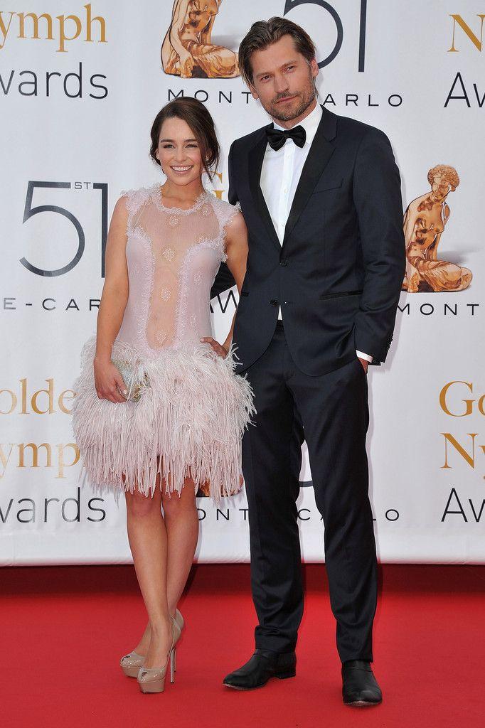 Nikolaj Coster-Waldau and Emilia Clarke Photo - 51st Monte Carlo TV Festival -'Closing Ceremony'