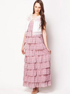 d1c6c43ba KOOVS Tiered Ruffle Maxi Dress