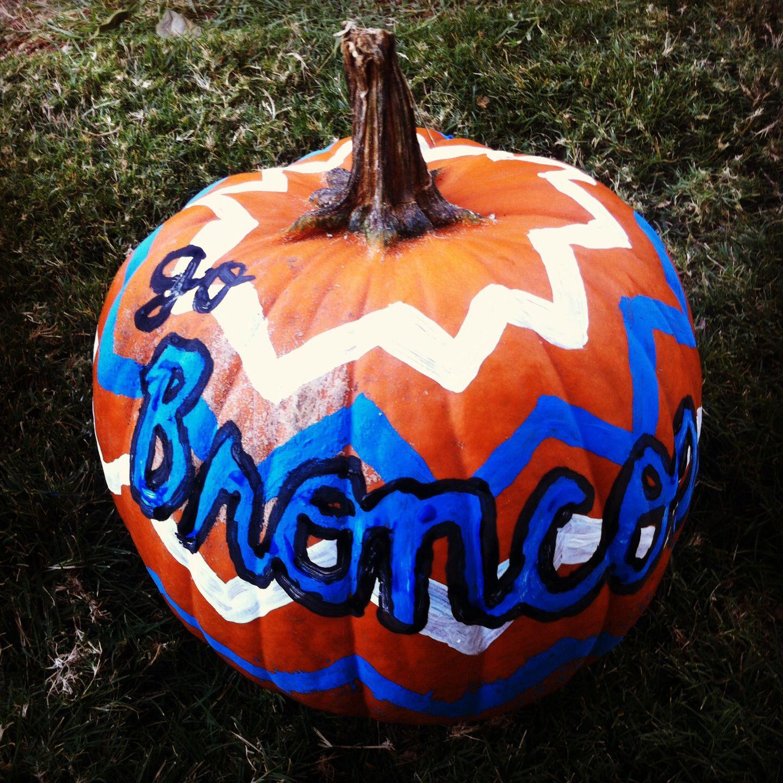 Denver broncos pumpkin