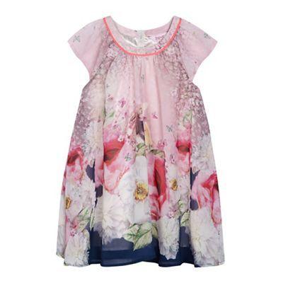02c855989c0abb Baker by Ted Baker Girls  pink floral rabbit print dress