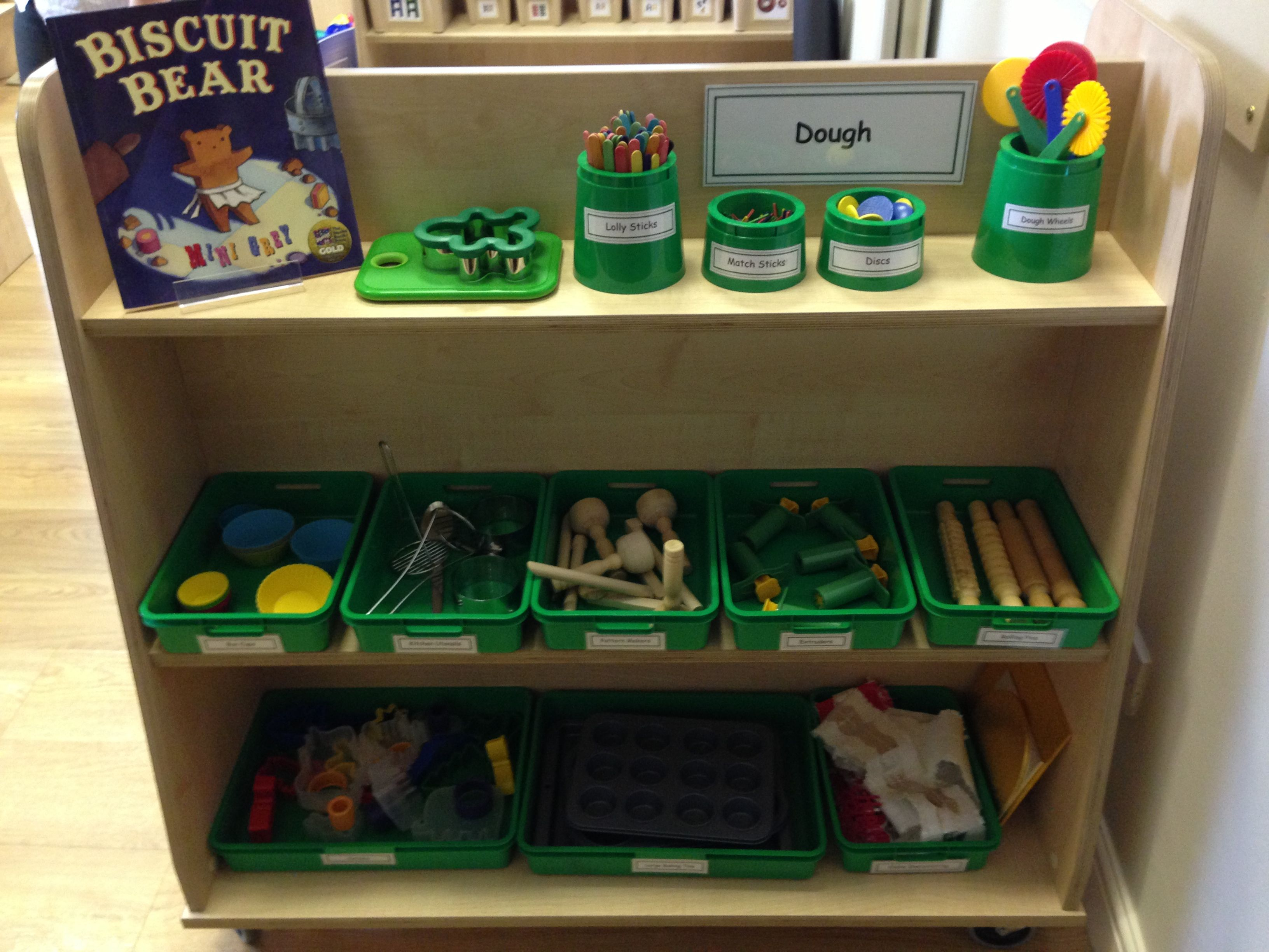 Classroom Ideas Early Years ~ Dough area at early excellence tiny tots teaching