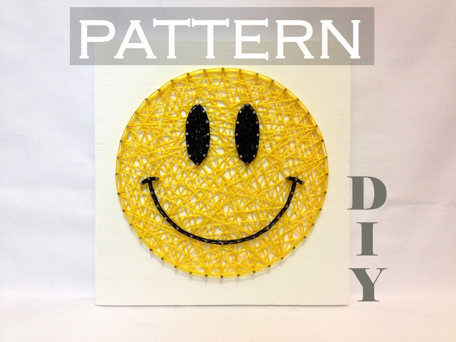 DIY String Art Pattern Smiley Pattern and Instructions, Included ...