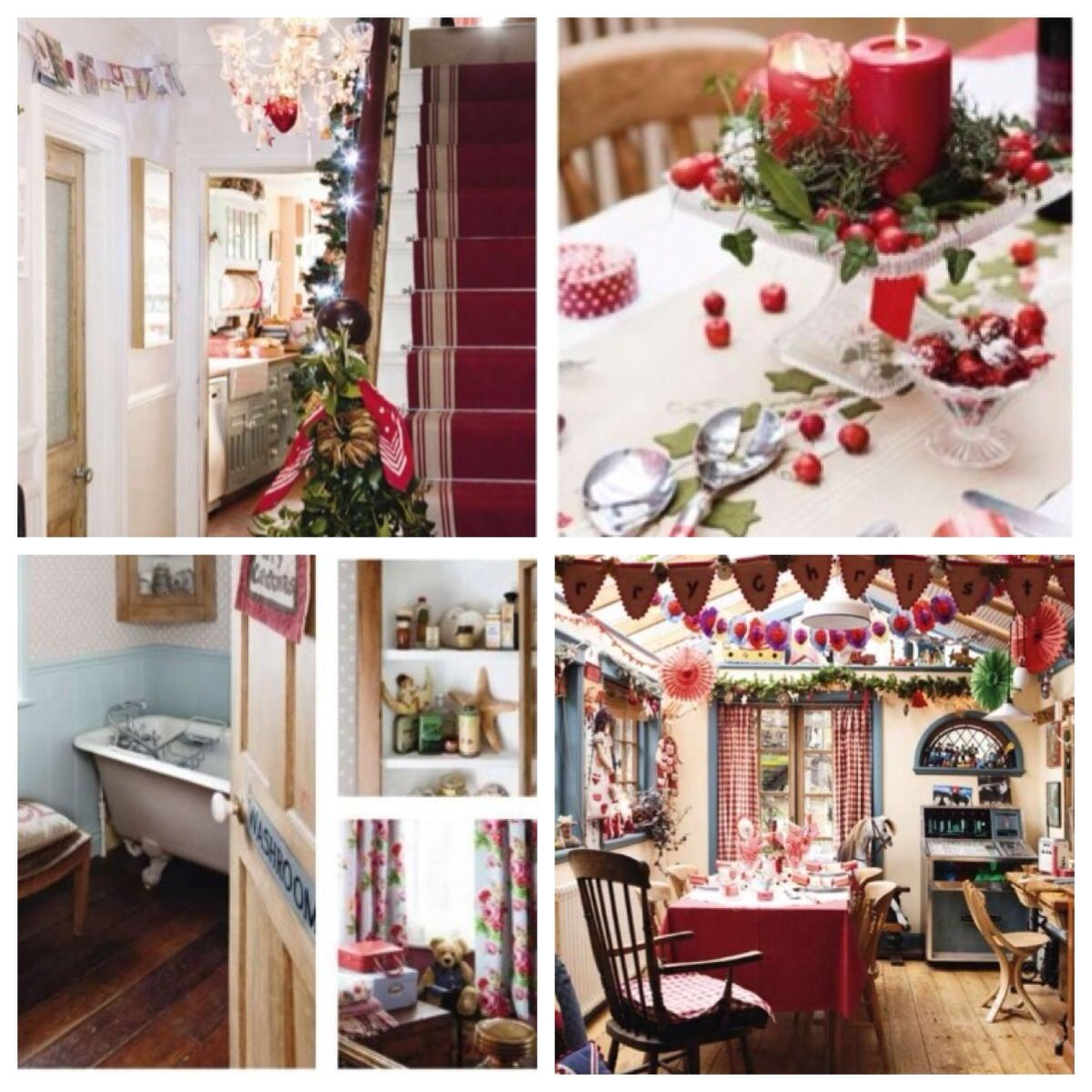Christmas Decorations Uk: Country Chic Christmas Decorating