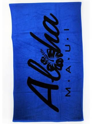Maui Aloha Hibiscus Beach Towel In Royal Blue Https Www Sofhawaii