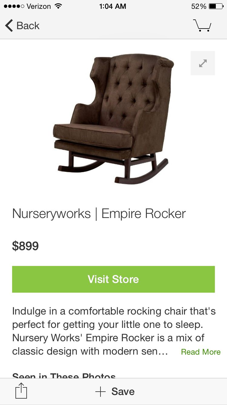 I will have this chair in my baby's nursery!
