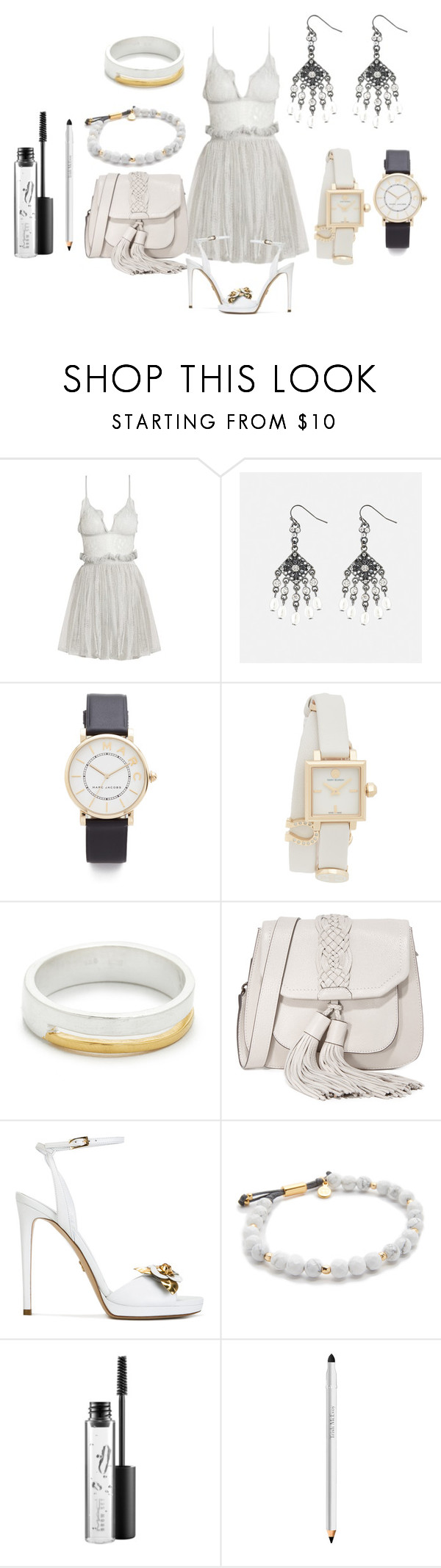 """Simple yet gorgeous"" by hillarymaguire ❤ liked on Polyvore featuring Alexander McQueen, Avenue, Marc Jacobs, Tory Burch, Maya Magal, Rebecca Minkoff, Loriblu, Gorjana, MAC Cosmetics and Trish McEvoy"