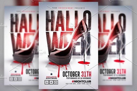 Halloween Party Flyer Psd By Creative Flyers On Creativemarket
