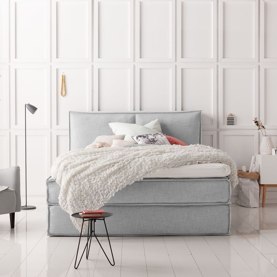 Graues Bett Boxspring Kinx In 2019 | Ideas For The House | Bett