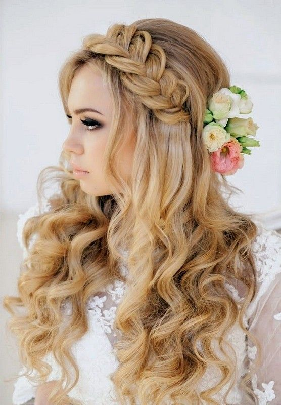 braided hairstyles for wedding party 2015 long curly