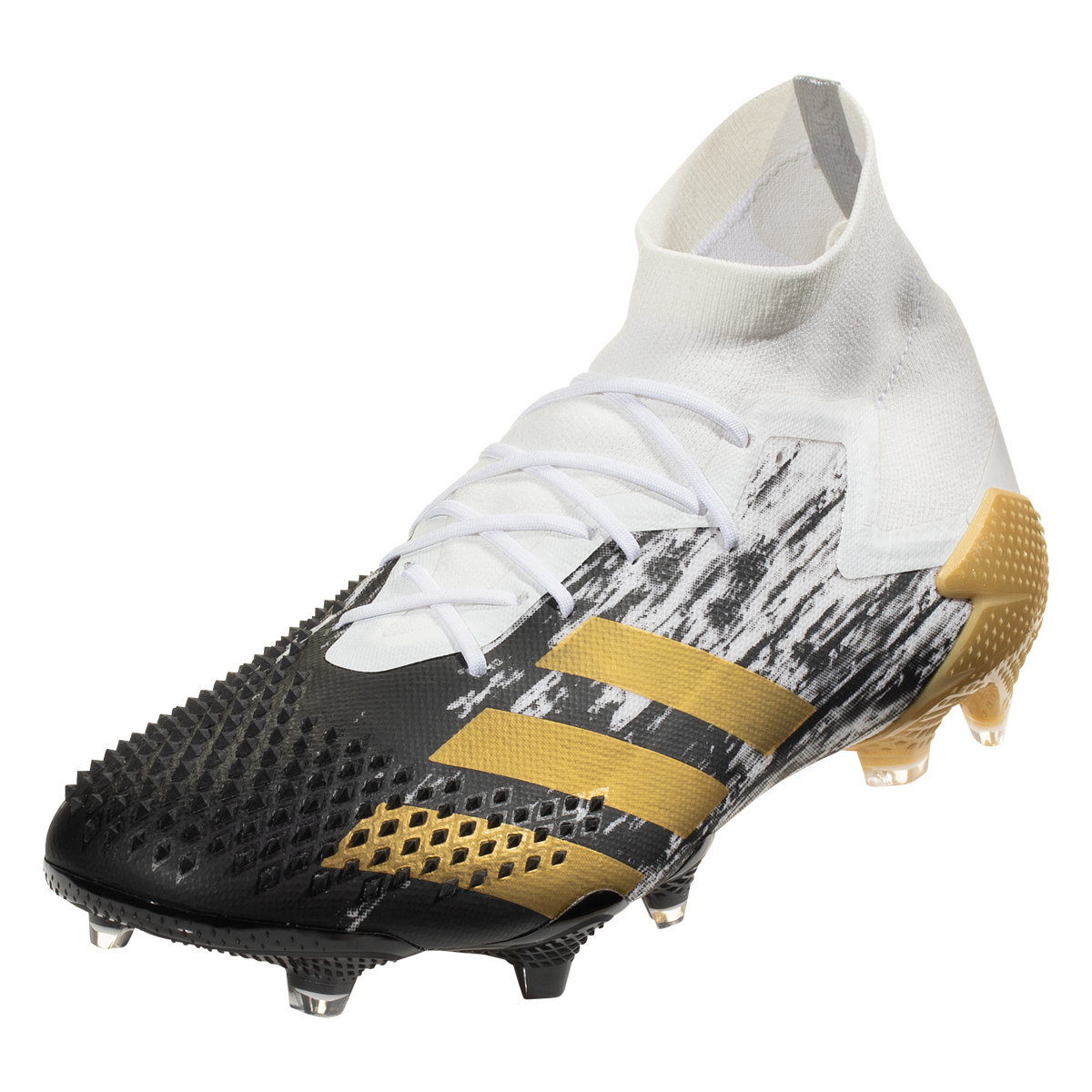 Adidas Predator 20 1 Fg Firm Ground Soccer Cleat White Metallic Gold Core Black 11 5 In 2020 Soccer Cleats Adidas Predator Cleats