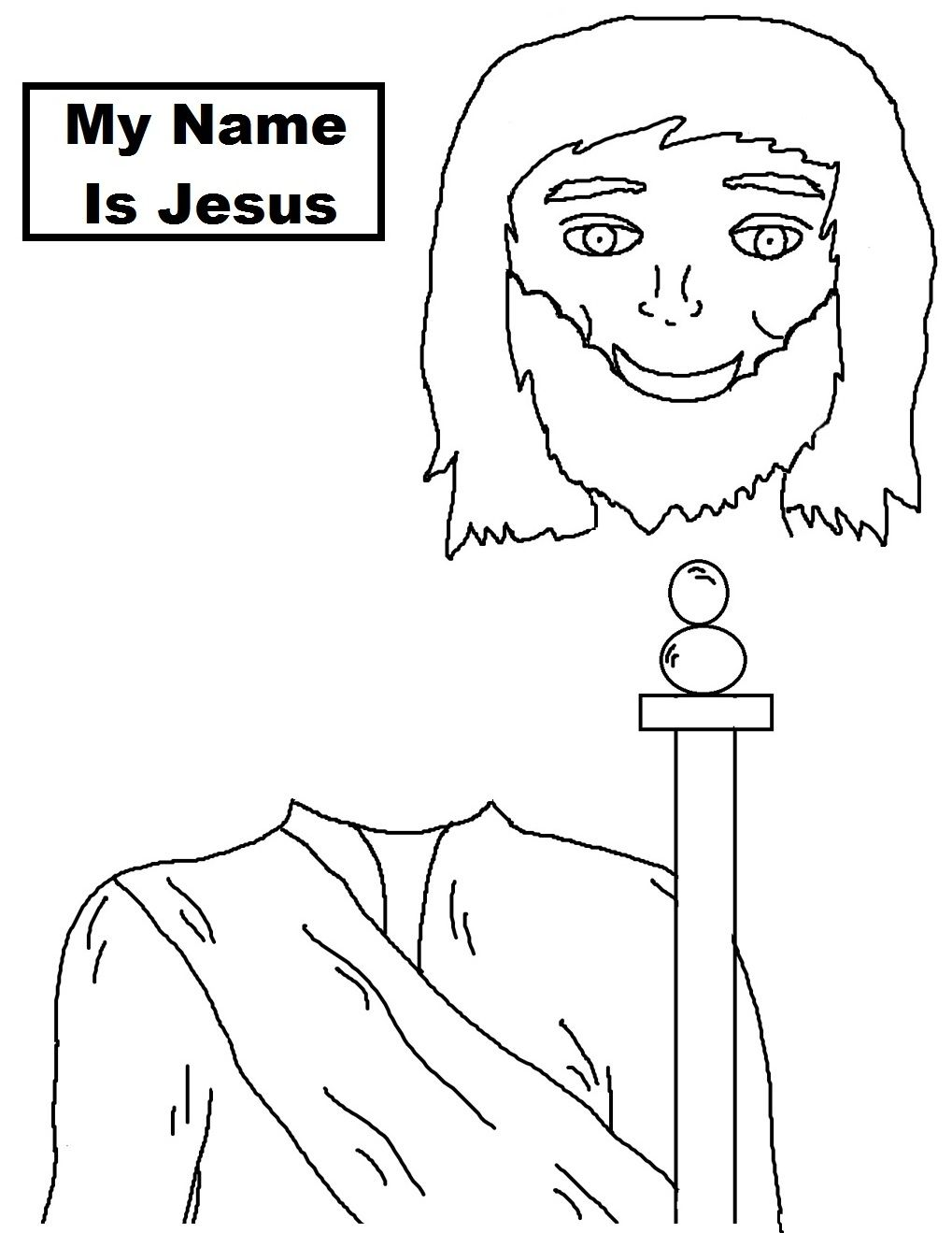 Jesus Template Black And White Pixeles Lunch Bags