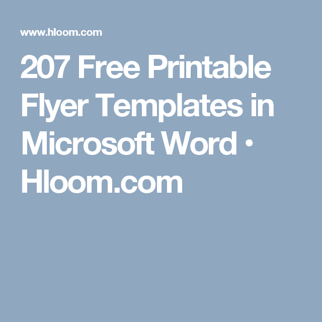 photo regarding Free Printable Flyer Templates Word named 207 No cost Printable Flyer Templates within just Microsoft Term Hloom