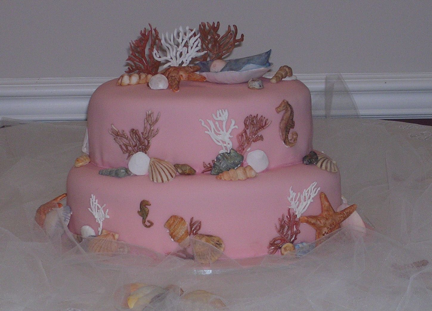 Baby Shower Girl Themes 2014 ~ Sea theme baby shower ideas pin baby shower ocean life cake