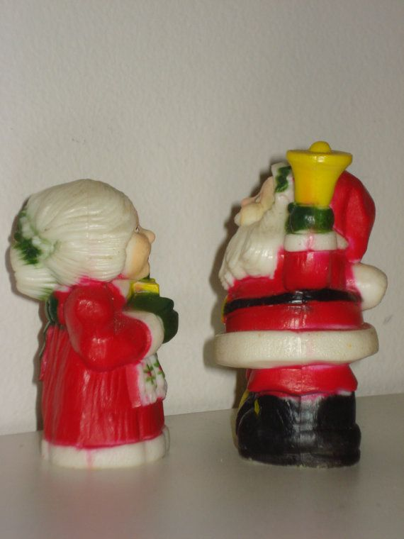 Vintage Christmas Salt and Pepper Shakers by LadybumbleVintage