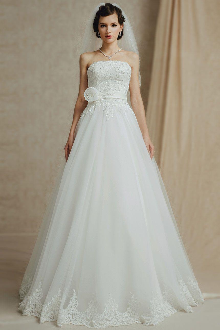Splendide Robe de mariée bustier à une allure de princesse - Persun ...