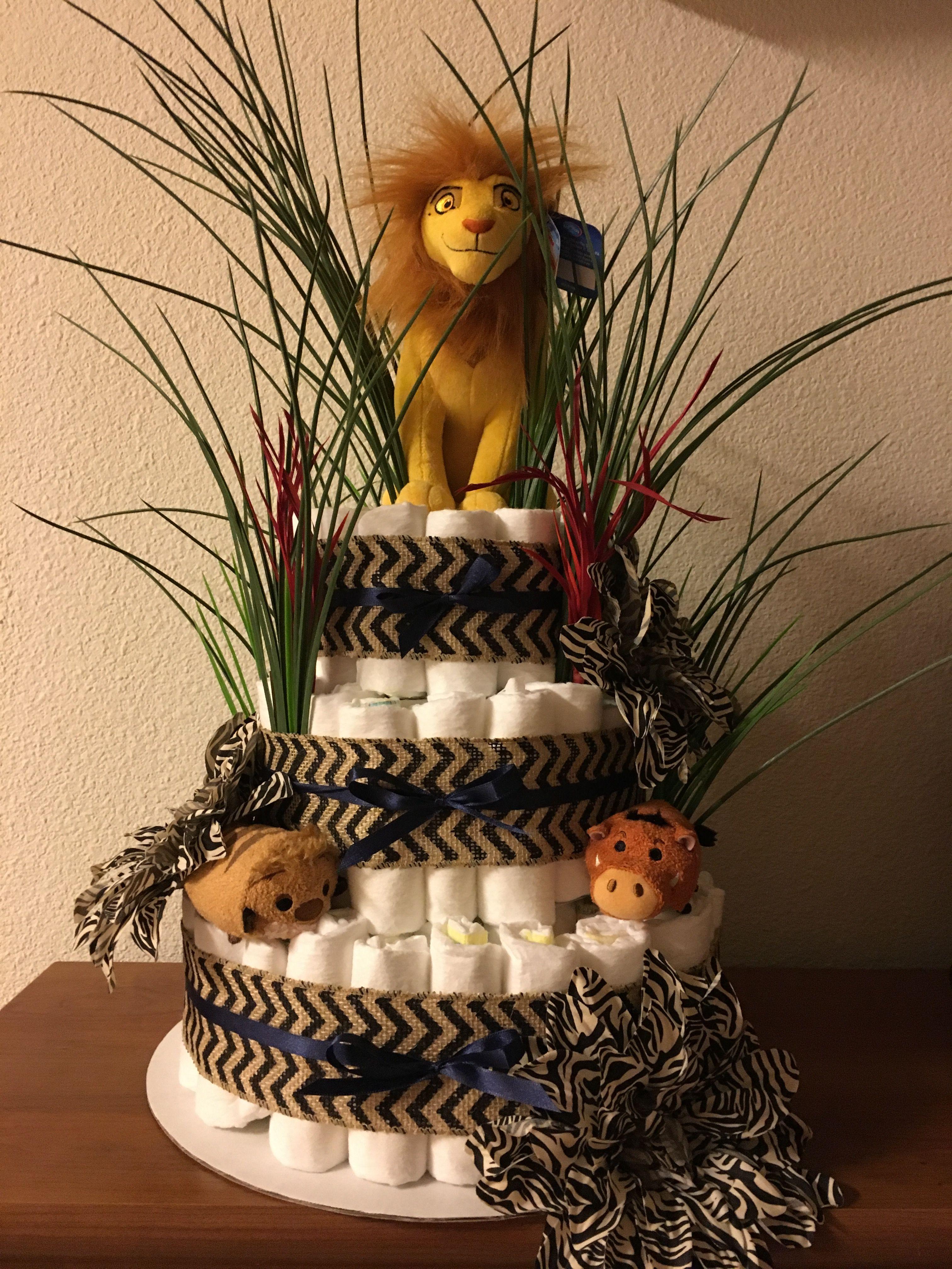 Lion King diaper cake   Baby   Pinterest   Lion king baby ...